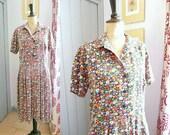 Vintage Late 1950s MILLE FLEURS Day Dress
