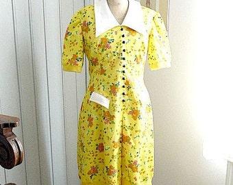 Vintage 1970s SOLEIL Day Dress