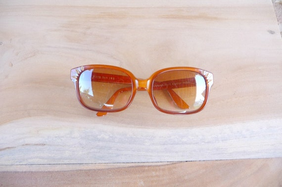Vintage 1980s EMMANUELLE KHANH Brown Sunglasses