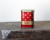 Polka dot Coffee canister from USSR