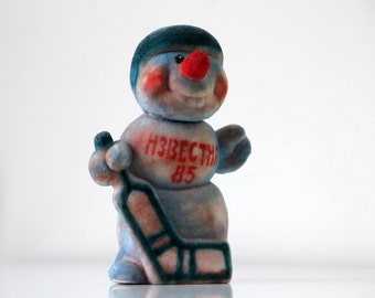 Vintage toy Snowman from USSR, 1985