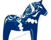 Blue Dala Horse of Sweden, 8x8 Fine Art Photograph by The Art of Observation on Etsy