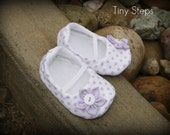 Lavender Polka Dotted Booties