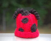 I'm Seeing Spots- Ladybug Beanie- Great photo prop