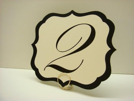 Wedding Table Numbers Elegant Vintage Label Design Gorgeous Wedding Reception Table Decor