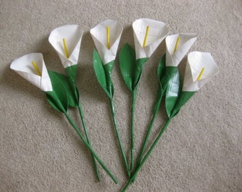 3 Duct Tape Calla Lillies