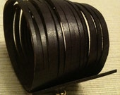 Eggplant leather cuff bracelet