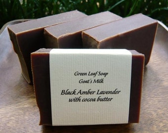 Black Amber Lavender (with Goats Milk and Cocoa Butter)