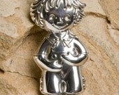 Vintage 80's Raggedy Andy sterling silver pendant