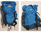 LARGE vintage backpack daypack KELTY carry on daypack day pack  leather