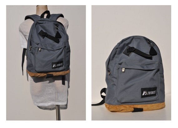 vintage backpack with leather bottom EVEREST carry on by andyhaul