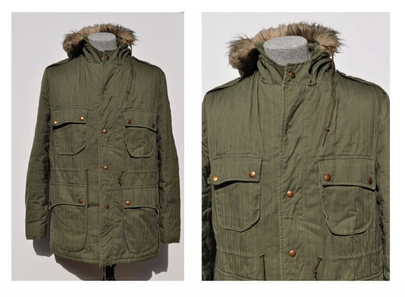 vintage parka vintage coat vintage jacket military campus 40