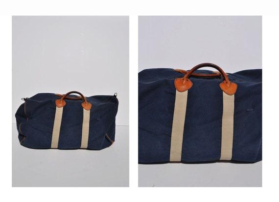 LL BEAN vintage duffle bag vintage duffel bag canvas tote