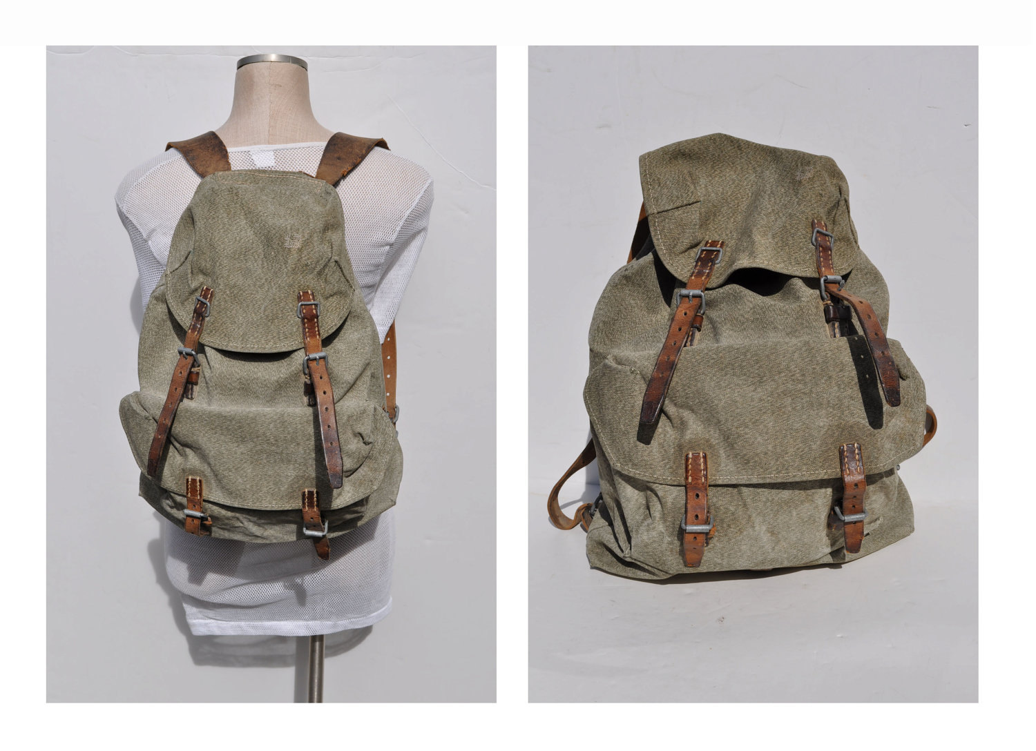 vintage backpack vintage back pack swiss salt and pepper ruck. Black Bedroom Furniture Sets. Home Design Ideas