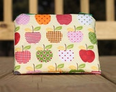 5 inch Zipper Pouch - Apples, Back to school, Teacher gift