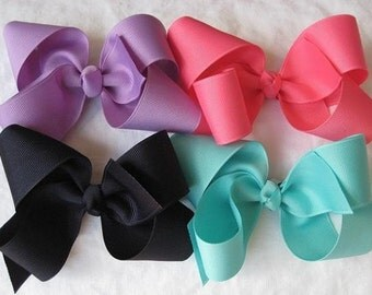 15 Pack- Extra Large Grosgrain Hair Bows-- Choose from over 40 colors
