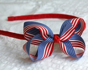Patriotic Stripe Grosgrain Headband