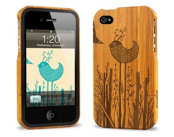 Bamboo iPhone 4 Case - Birdland by Sven Palmowski