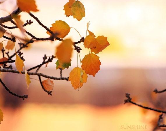 printable art Autumn fall leaves Autumn photography Mustard orange Painting Autumn Surreal autumn photo