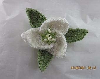 Trillium Wildflower Pin