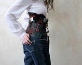 Autumn patchwork corset belt