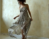 Ethereal fairy gown in fine flowered cotton OOAK