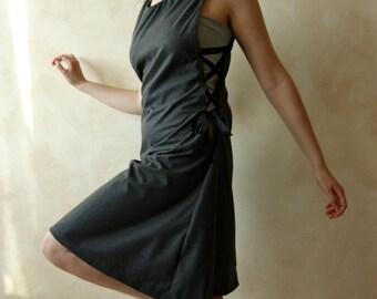 Medieval Dress, wool dress, tunic dress, sleeveless dress, women dress, red dress, winter dress, day dress, jumper, pinafore, LARP dress