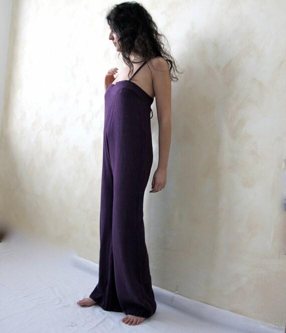 Thayaht purple muslin jumpsuit