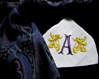 Classic Mens Hankie that is sure to be a hit - from the Bride, cotton hankerchief, monogrammed handkerchief