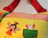 Bright Colors, Embroidered Tooth Fairy Pillow, Ready to Ship
