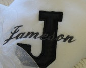 Custom Baby Blanket, Personalized, Applique and Embroidered