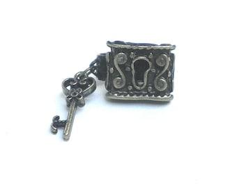 Lock and Key Tie Clip