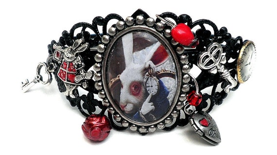 White Rabbit Cuff Bracelet