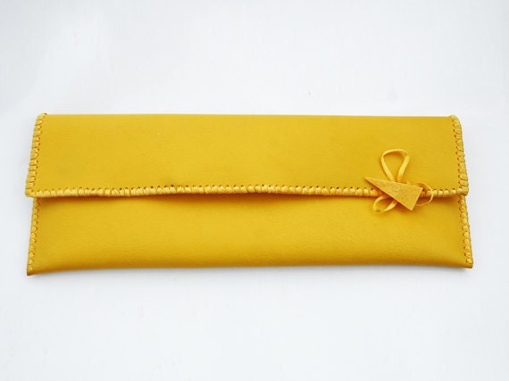 Yellow clutch..FREE SHIPPING WORLDWIDE