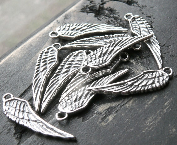 Sterling Silver Angel Wing Charm - Add On for Yourcharmedlife Customers