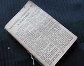 Small Antique Bible - Very Old Missing Cover - totalvintage