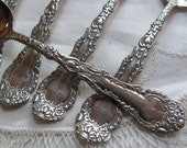 Set of 5 Silver Plate Teaspoons - Rare Chevalier 1895 Pattern - - by totalvintage on etsy