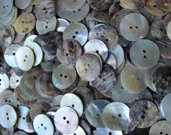 "Set of 12 Shell MOP Buttons .75"" 3/4"" wide"