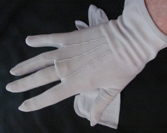 Gloves Vintage Ladies Nylon Stretch Wrist Gloves (A009)