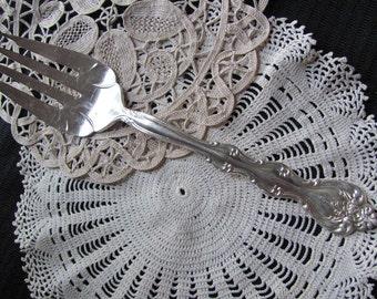 Vintage Silver Plate Large Serving Fork - Interlude Pattern 1971