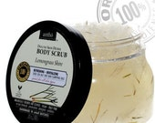 ORGANIC Body Scrub - Dead Sea salt - Lemongrass