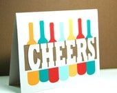 Cheers Wine Card - Paper Cut Cards Set of 6