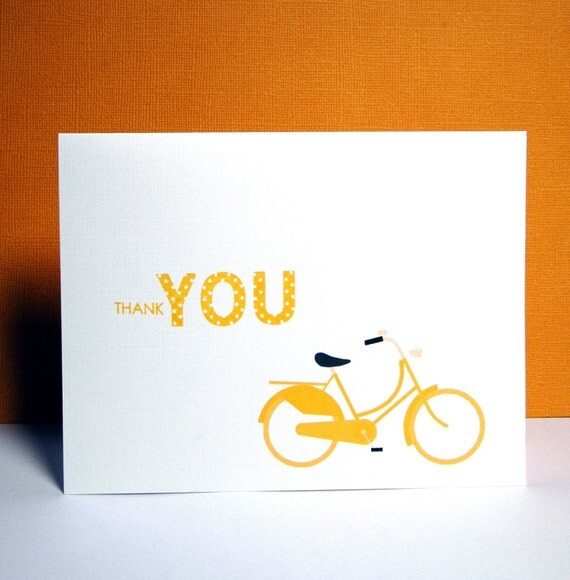 Bike Thank You Cards - Set of 6
