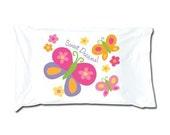 Stephen Joseph Butterfly Standard Size Soft Jersey Knit Cotton PIllowcase