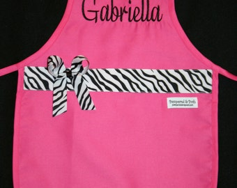 Personalized Monogrammed Child Apron