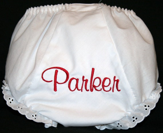 Personalized Monogrammed Diaper Cover
