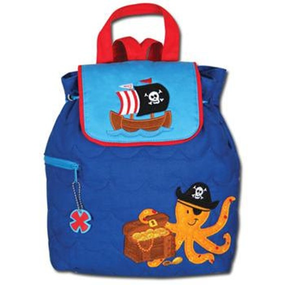 Stephen Joseph Personalized Monogrammed Pirate Octopus Backpack