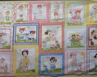 A Wonderful Loralie You Golf Girl Fabric Panel Free US Shipping