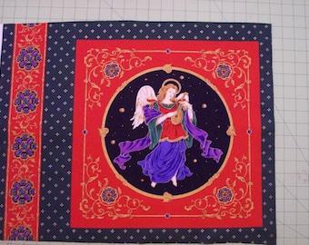 A Beautiful Christmas Angel Fabric Panel Free US Shipping