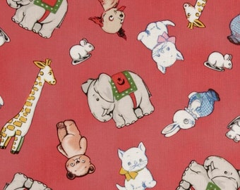 An Adorable Aunt Lindy's Paper Doll Animals Cotton Fabric By The Yard Free US Shipping